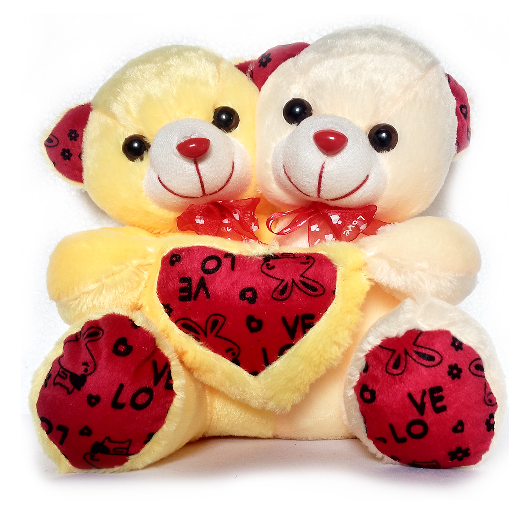 Buy Super Cute Teddy Couple Love For Gift Soft Toy 27 Cm Online